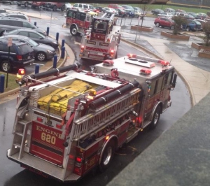 The fire department arrives within moments of the alarm. Photo courtesy of A. Wiley :)