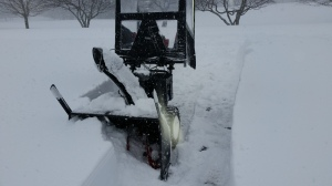 The blizzard challenged even the most rugged snowblowers and equipment.